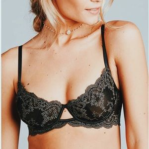 NWT Free people black lacy bra